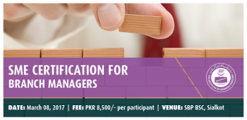 SME CERTIFICATION FOR BRANCH MANAGERS