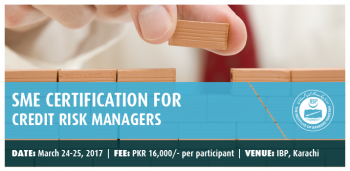 SME CERTIFICATION FOR CREDIT RISK MANAGERS